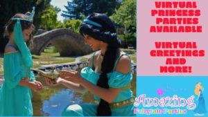 virtual online princess parties